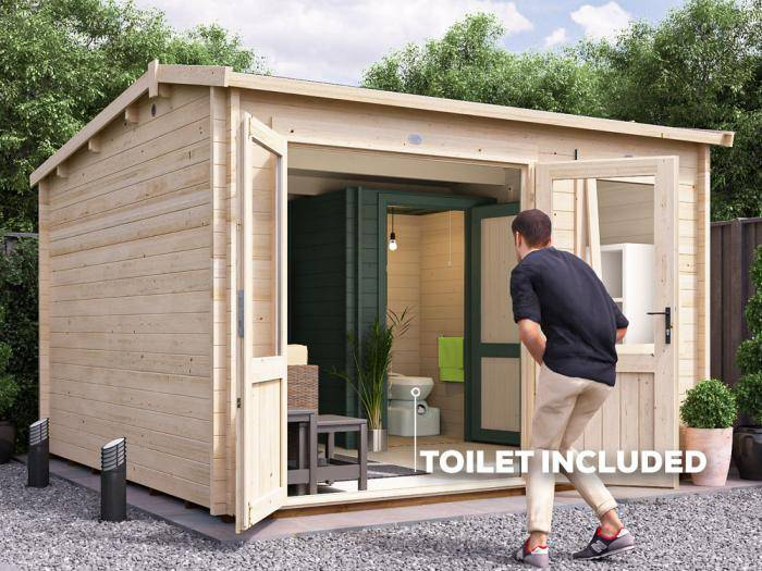 Carsare Outhouse Log Cabin W3.5m x D3.5m | Dunster House