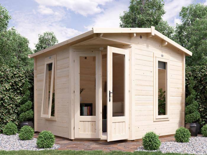 DaftPony Log Cabin W3.0m x D3.0m | Log Cabin | Dunster House
