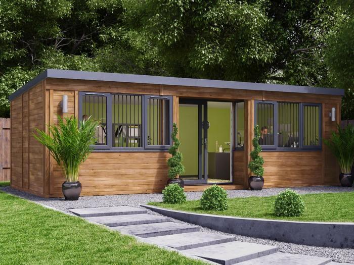 Helena Garden Office W7.6m x D3.3m | Insulated Garden Rooms