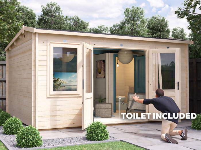 Lantera Outhouse Log Cabin W4.5m x D3.5m | Dunster House