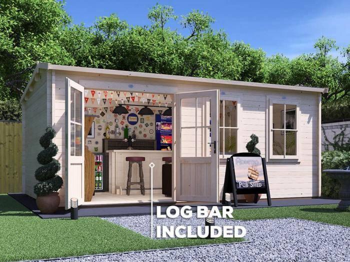 Modetro Pub Shed Log Cabin Range - Cocktail Party Hotspot