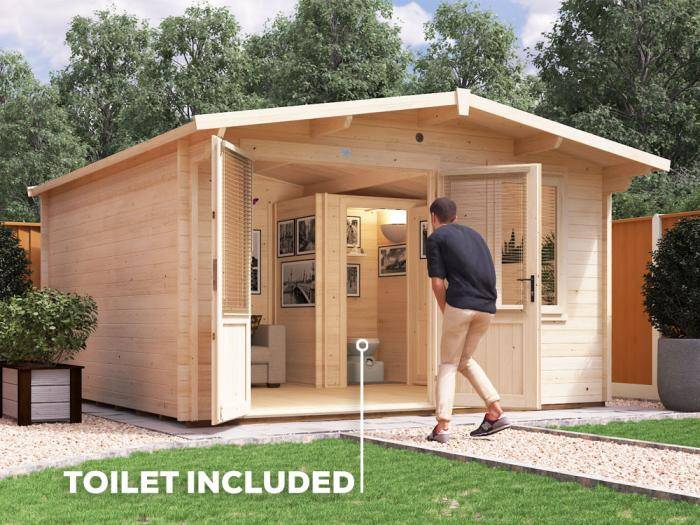 Rhine Outhouse Log Cabin W4.0m x D4.0m | Dunster House