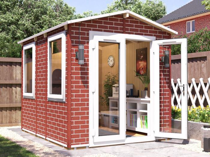 Tegla Garden Office 2.2m x 2.8m | Brick Effect Garden Office