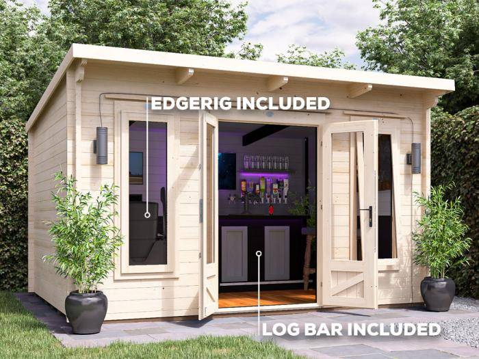 Terminator Man Cave Log Cabin W4.0m x D3.0m | Dunster House
