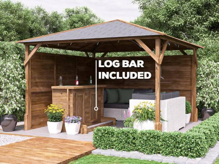 Solid Quality Space Saving Utopia Garden Bar Gazebo
