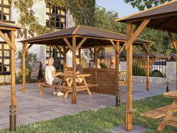Utopia 430 Gazebo with Glazed Partition