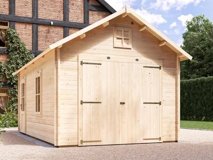 Manbastion Timber Garage W3.5m x D5.7m | Dunster House