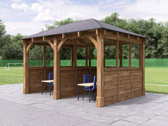 Atlas Gazebo with Partition & Glazed Panels W4.0m x D3.2m