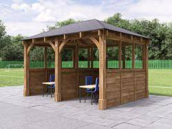Atlas Gazebo with Partition & Glazed Panels