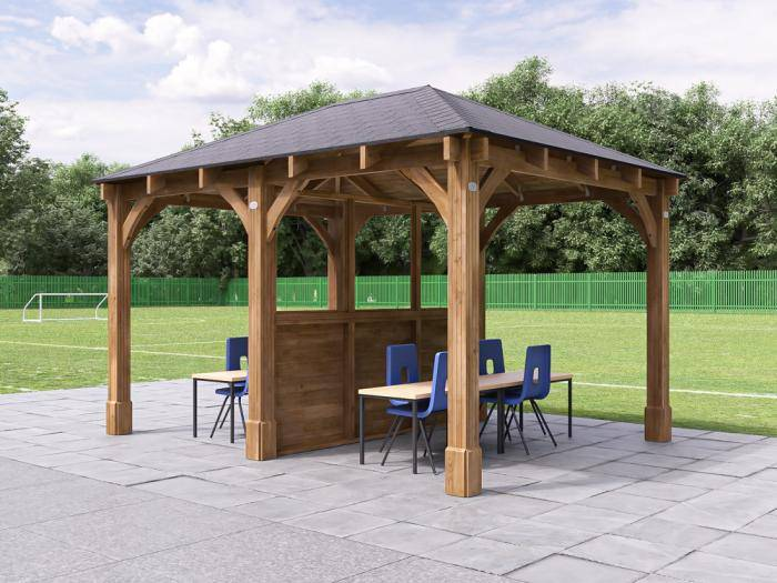 Atlas Gazebo with Partition W4.0m x D3.2m | Gazebos
