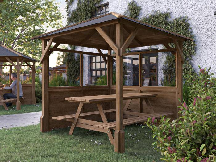 Utopia 200 2 Walled Gazebo W2.0m x D2.0m | Gazebos