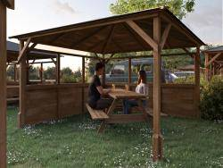 Utopia 300 2 Walled Gazebo