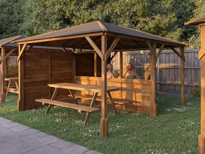 Utopia 430 3 Walled Part Glazed Gazebo | Gazebos