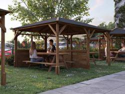 Utopia 430 3 Walled Fully Glazed Gazebo