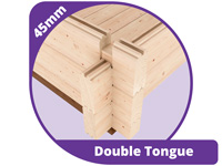 45mm double tongue wall thickness