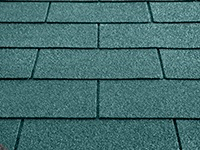 Individual roofing shingles for wooden log cabins