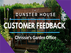 Garden Office: Chrissies Dunster House Customer Feedback _Theodore